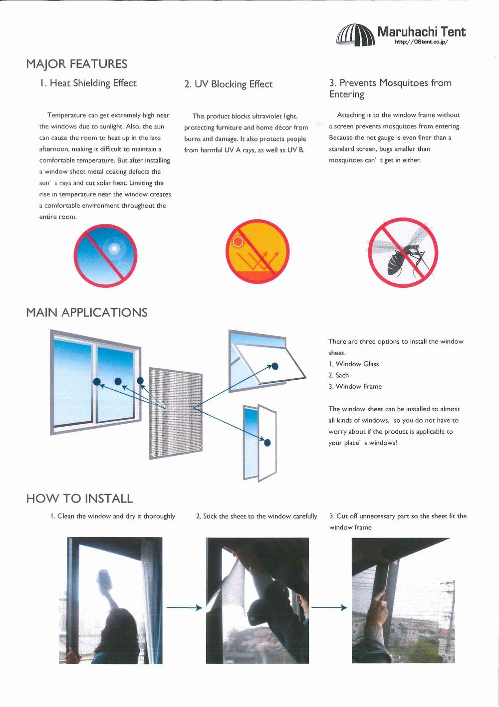 explanation on window sheet
